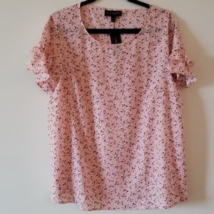 Lane Bryant NWT Pink Patterned Top Size 14